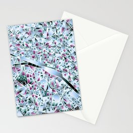 Paris map Stationery Cards
