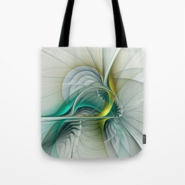 Fractal Evolution, Abstract Art Graphic Tote Bag