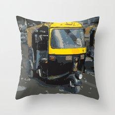 Baby Taxi Throw Pillow