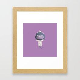 Hooded Furball Monster Framed Art Print