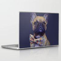 french bulldog Laptop & iPad Skins featuring French Bulldog  by Ircadelik