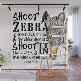 Zebra Stripes Wall Mural