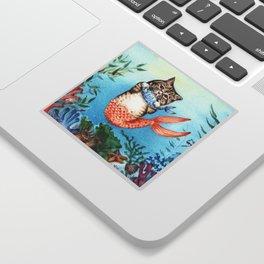 Cute Purrmaid Cat Mermaid Sticker