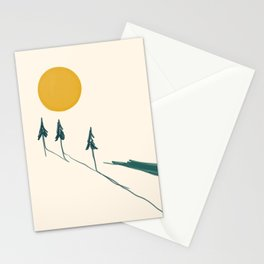 The Forest Tree Line Stationery Cards