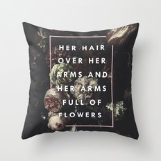 Arms Full Of Flowers Throw Pillow