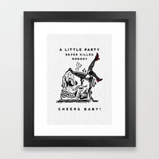 Cheers Baby Framed Art Print