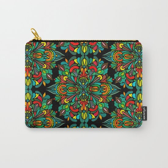 Green red orange pattern Carry-All Pouch