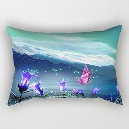 butterfly flowers Rectangular Pillow