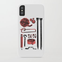 Knitting Kit iPhone Case