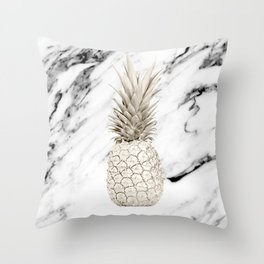 Marble Pineapple Throw Pillow