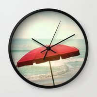 500 days of summer Wall Clocks featuring Summer Days by Bella Blue Photography