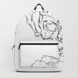 Court Jester Skull Drawing Backpack