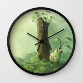 Plant Folk Wall Clock
