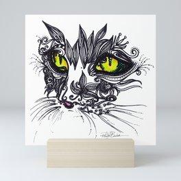 Intense Cat Mini Art Print
