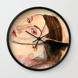 la muse de monet Wall Clock