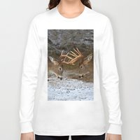 teen titans Long Sleeve T-shirts featuring Clash of the Titans by Jim Cumming