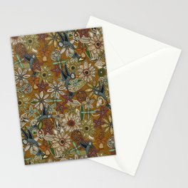 nectar bird garden gold Stationery Cards