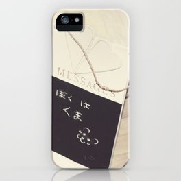 Message From Kuma iPhone Case