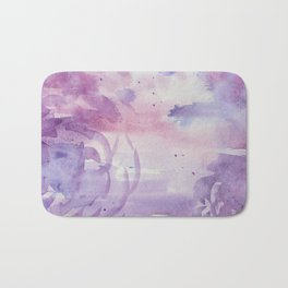 Plums and Pinks Bath Mat