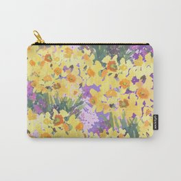Yellow Daffodil Garden Carry-All Pouch