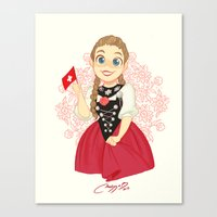 switzerland Canvas Prints featuring Switzerland by Melissa Ballesteros Parada