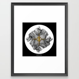 Grins of Greed Framed Art Print