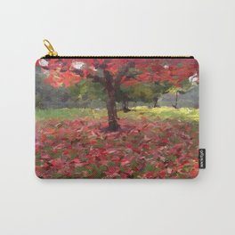 Oil crayon illustration of a red maple tree in the Boston Public Garden Carry-All Pouch