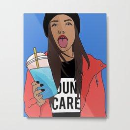Dun Care Metal Print