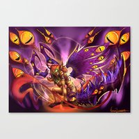 warcraft Canvas Prints featuring Corruption  by LycaonCreations