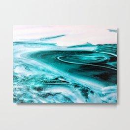 Marble Like Water Metal Print
