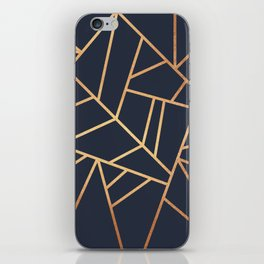 Copper and Midnight Navy iPhone Skin