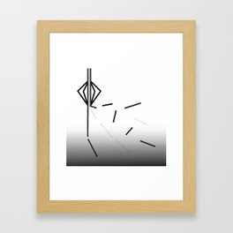 Breakaway Black and White Gradation Framed Art Print