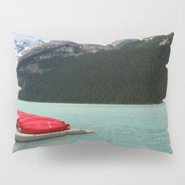 Lake Louise Red Canoes Pillow Sham