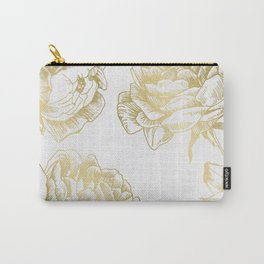 Gold Roses Carry-All Pouch