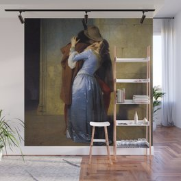 'The Kiss' at Pinacoteca di Brera by Francesco Hayez Wall Mural