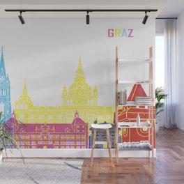 Graz skyline pop Wall Mural