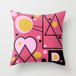 the girl in the forest Throw Pillow