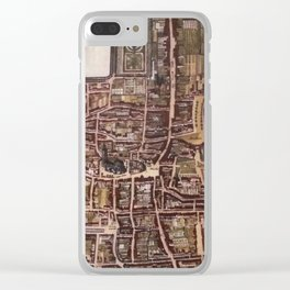 Replica city map of The Hague 1649 Clear iPhone Case