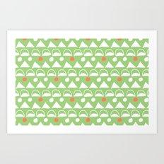 Mod Triangles Art Print