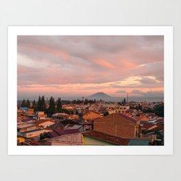Berastagi Sunset Art Print