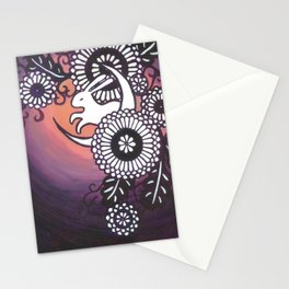 Rabbit of the Moon Stationery Cards