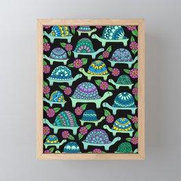 Tortoises Black Framed Mini Art Print