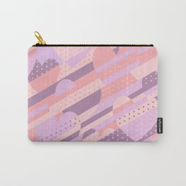 Sweet Heart Pattern (Pastel Coral Pink, Lavender) Carry-All Pouch