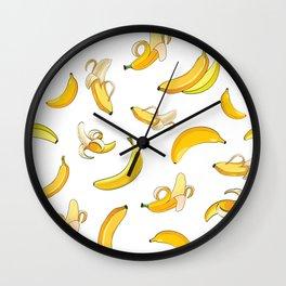 Banana & Leaves Pattern 2 Wall Clock