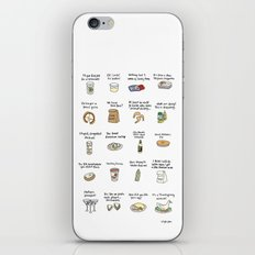 Foods of Arrested Development - Season 4 iPhone & iPod Skin