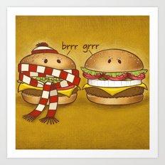 Fast Food Phonics Art Print