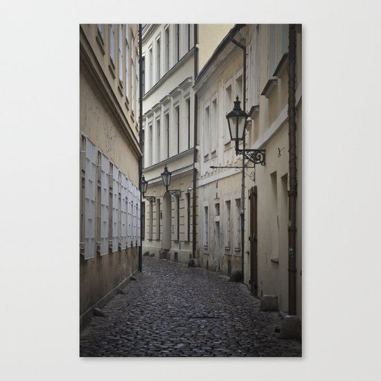 Alleyway in Prague Canvas Print