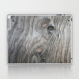 Real Aged Silver Wood Laptop & iPad Skin