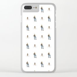 Drake Views Pattern Clear iPhone Case
