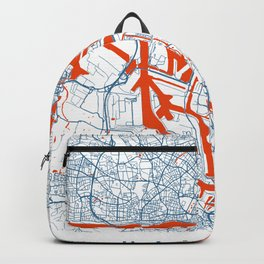 Hamburg Map | Germany | White | More Colors Backpack